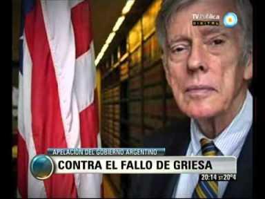 Argentina appeals the judgement of Justice Griesa.